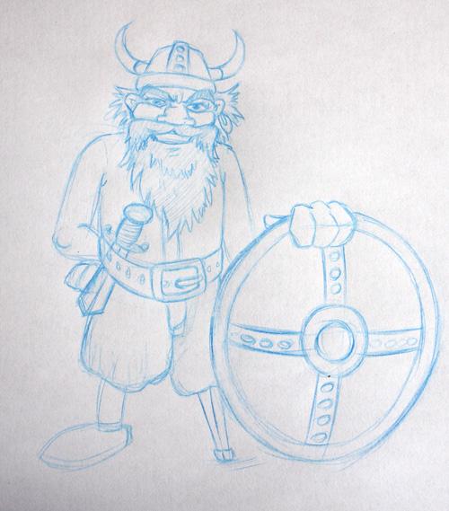 viking_croquis_mascotte