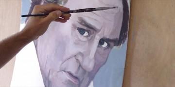 apprendre à peindre le portrait de gérard depardieu