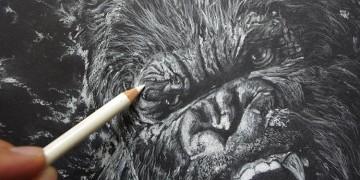 apprendre à dessiner la peau et les poils du gorille king kong