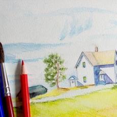 cours-de-dessin-crayon-aquarelle