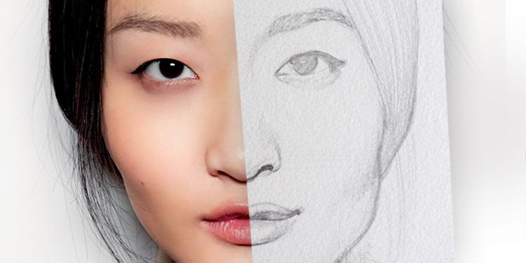 comment dessiner un visage avant de le peindre à l'aquarelle