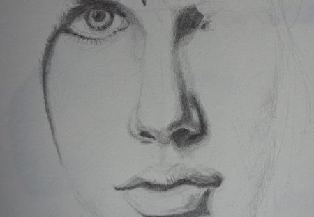 dessiner un visage et les ombres en dégradé