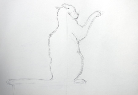 Apprendre à dessiner un chat en mouvement
