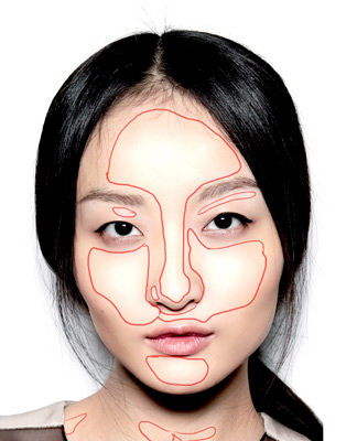 dessiner un visage lumineux