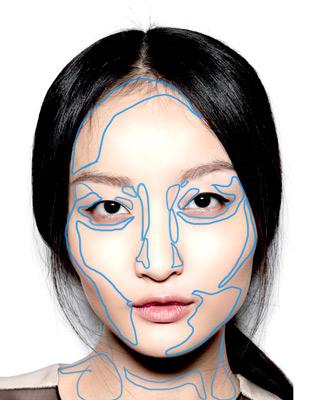 comment dessiner la peau d'un visage