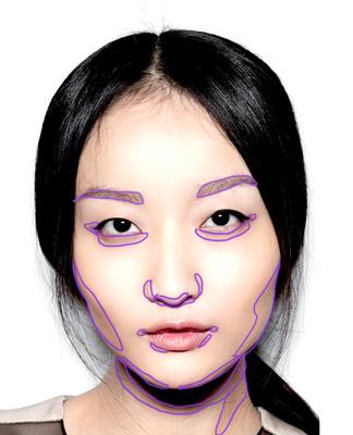 comment dessiner l'ombre sur un visage