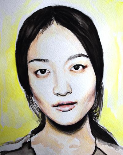 technique pour apprendre à peindre un visage à l'aquarelle