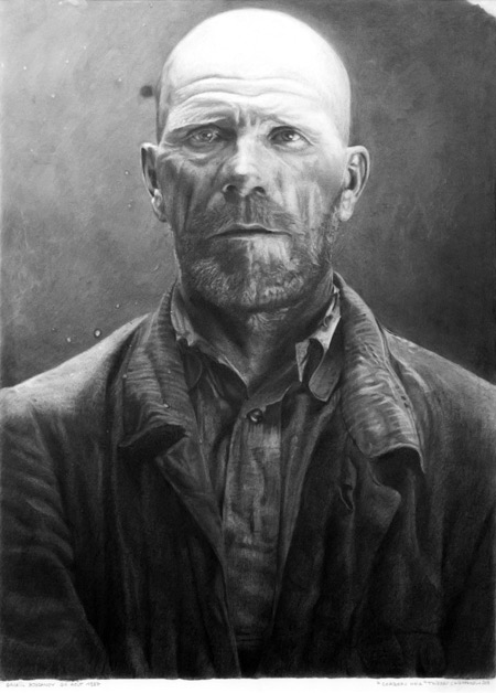 portrait de corbeau noir dessiné par thierry chiapparelli