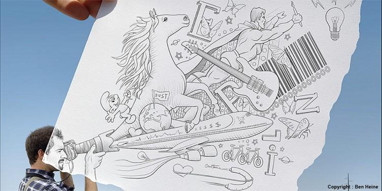 apprendre à dessiner et à dévelloper son sens artistique par dessin-création.