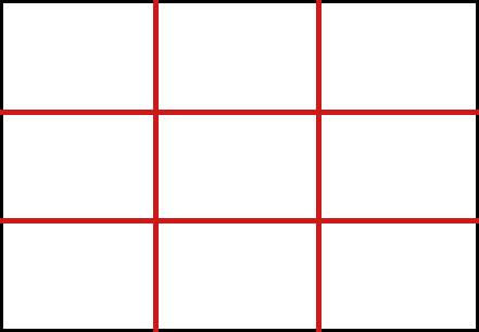 technique de dessin composition selon la règle des tiers