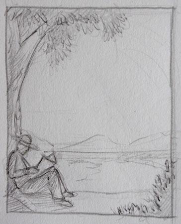 apprendre le cadrage et la composition en dessinant un paysage