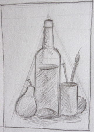 faire un dessin en utilisant la composition triangulaire