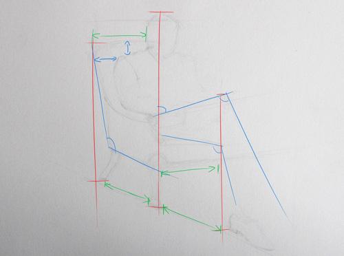 apprendre à dessiner un homme assis en faisant un croquis