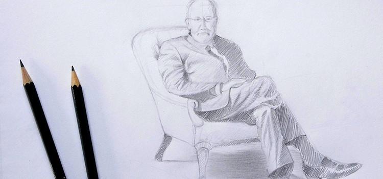 cours de dessin pour apprendre à dessiner un personnage assis pas à pas