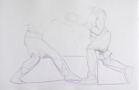 technique pour dessiner les jambes d'un sportif