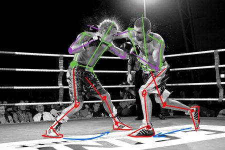 technique pour dessiner un combat de boxe dynamique