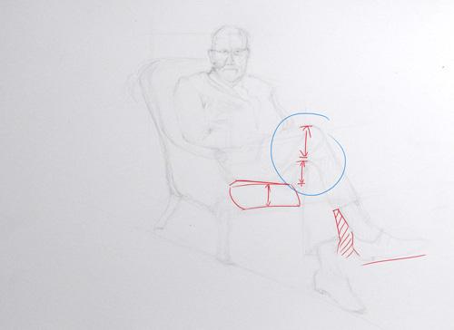 comment dessiner un personnage avec les jambes croisées et assis