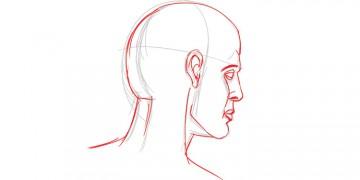 Comment dessiner une tete en perspective avec leo du blog dessin-creation