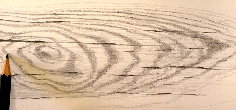 Méthode simple et efficace pour dessiner du bois pas à pas en vidéo.