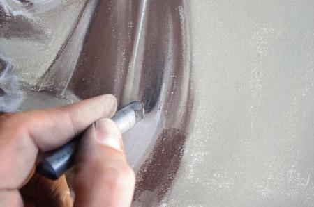 Dessiner un drapé contrasté en ajoutant les ombres