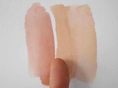technique pour peindre la peau à la peinture aquarelle