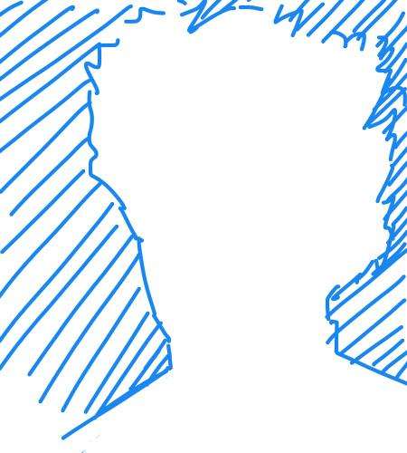 méthode pour dessiner la silhouette d'un personnage en négatif