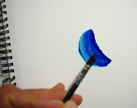 la texture de la peinture à la tempera