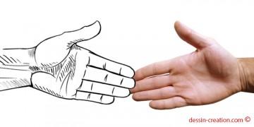 technique astucieuse pour dessiner les mains facilement