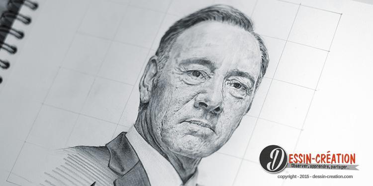 Dessiner Kevin Spacey Faire Un Portrait Réaliste Pas à Pas Apprendre à Dessiner Avec Dessin Création