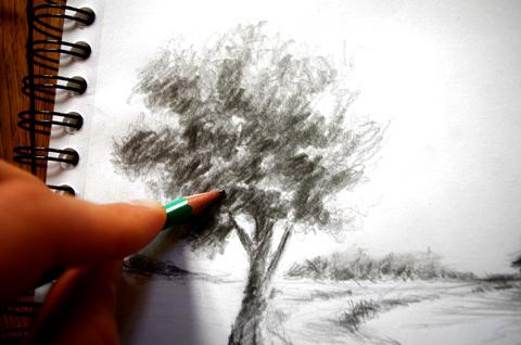 technique pour dessiner les feuilles d'un arbre et le rendre dynamique
