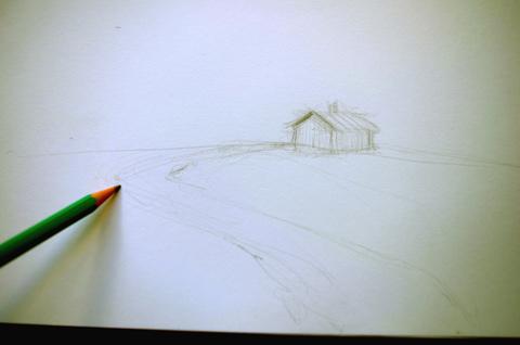 apprendre à dessiner un paysage sur le vif et facilement étape par étape
