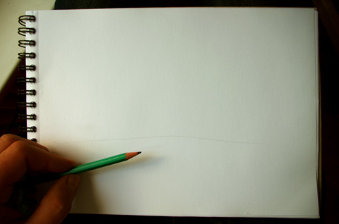 technique pour dessiner simplement la ligne d'horizon d'un paysage