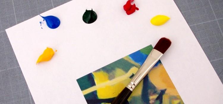 méthode pour peindre et trouver facilement les couleurs exactes d'une oeuvre