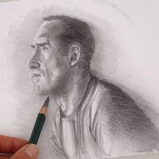technique pour dessiner un personnage et bien le contraster étape par étape