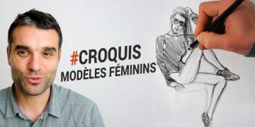 cours pour apprendre à dessiner un modèles féminins et faire des croquis vivants