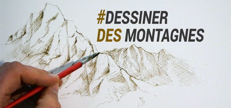 apprendre à dessiner des montagnes à l'encre en utilisant la plume avec dessin-creation