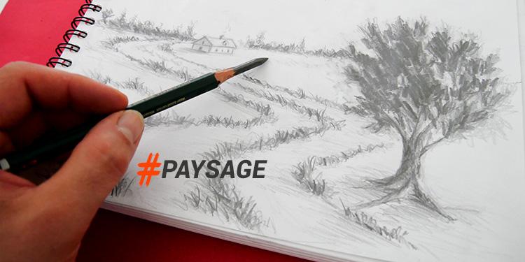 cours pour dessiner un paysage au crayon rapidement et par étape