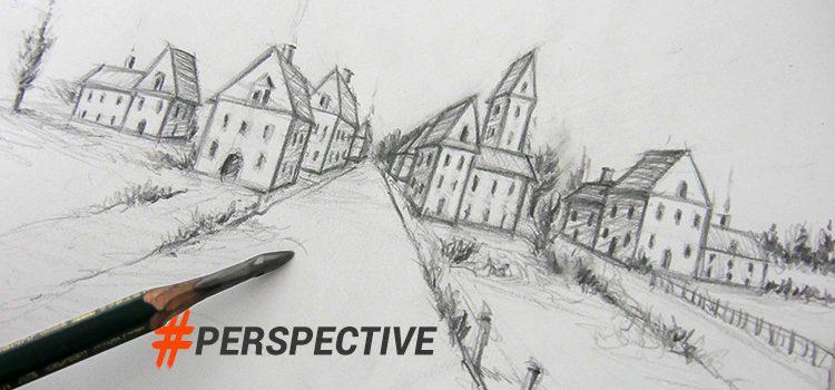technique de base pour apprendre à dessiner un village en persective rapidement