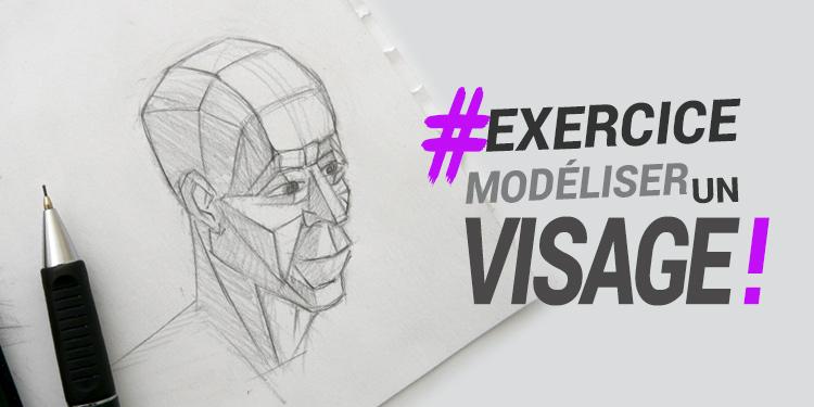 méthode pour décomposer et bien dessiner le volume du visage en perspective