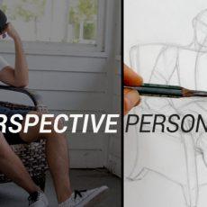 apprendre à dessiner un personnage assis en perspective à l'aide d'une méthode simple