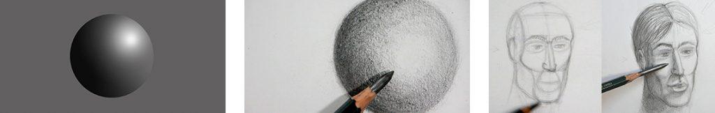 technique pour bien contraster et dessiner un portrait réaliste pas à pas
