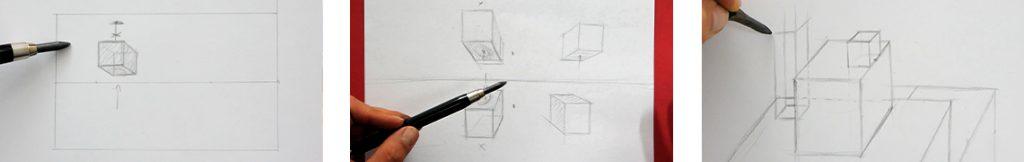 Apprendre le dessin en perspective pour débutants en formation