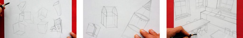 cours complet sur le dessin en perspective et techniques simples à apprendre