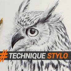 apprendre à dessiner un hibou facilement au stylo bille avec ce tutoriel de dessin en ligne