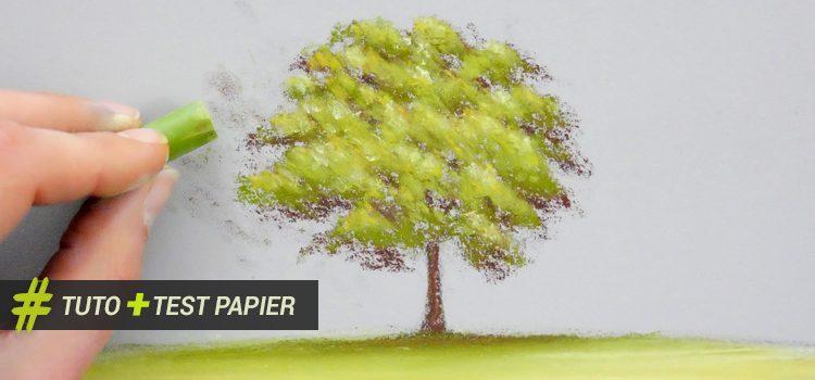 technique utile pour apprendre à peindre un arbre au pastel sec et bien choisir son papier