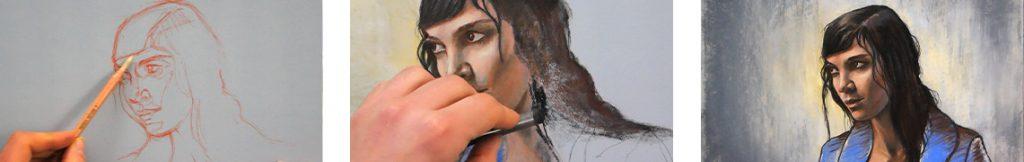 Technique pour peindre un portrait au pastel avec ce cours complet