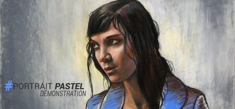 voici une vidéo pour apprendre comment peindre un portrait au pastel et réaliser une illustration originale
