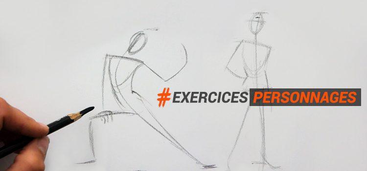 Exercice utile pour dessiner un personnage d'après modèle en adoptant la bonne technique.