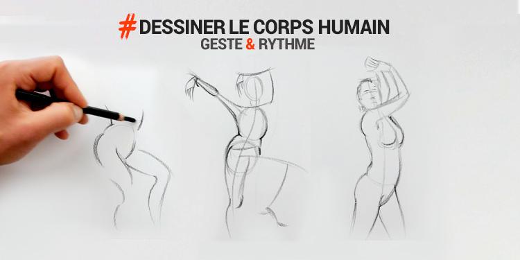 exercice utile et technique pour apprendre à dessiner le corps humain pas à pas et facilement