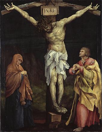 apprendre la composition en peinture avec cette scène de crucifixion